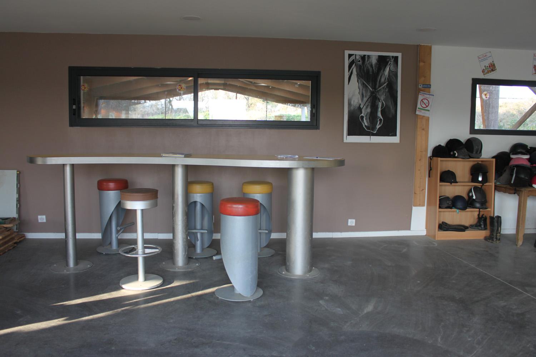 Intérieur du Club house