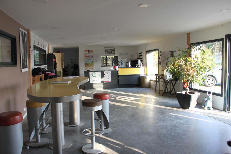 Intérieur du Club house vue latérale